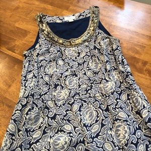 LOFT Sundress with embellished neckline!